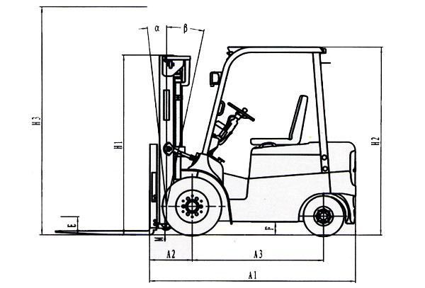 cpd series 1-3t electric forklift  dc  - products