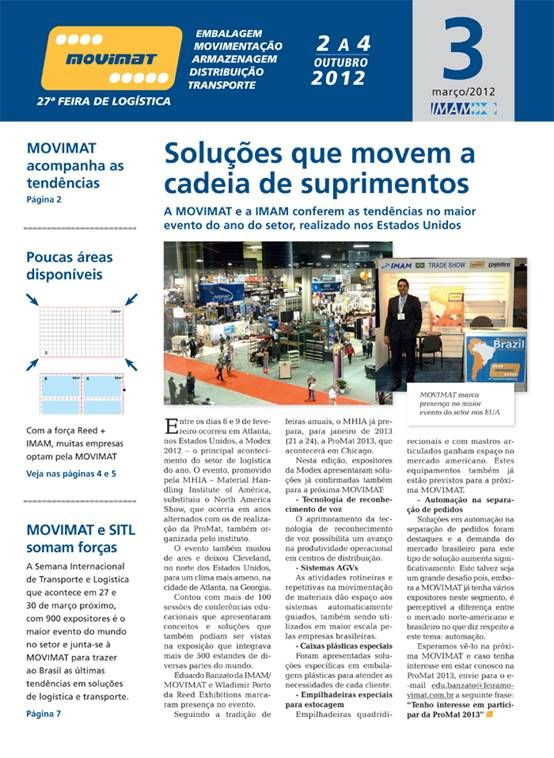 Meet SINOLIFT at MOVIMAT 2012